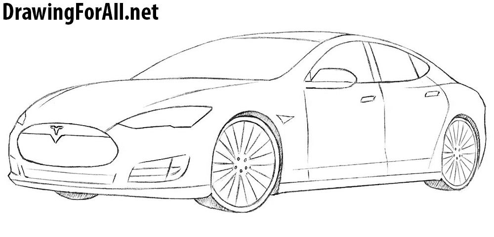 How to Draw a Tesla Model S Car drawings, Tesla, Tesla