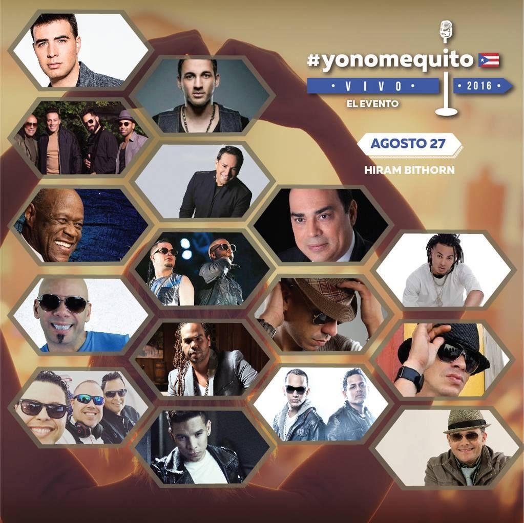 #yonomequito 🇵🇷 Más de 30 artistas, más de 8 horas, una sola voz por Puerto Rico. Se parte del evento el 27 de agosto en el Hiram Bithron 🎟 Boletos + Info en Ticket Center bit.ly/YoNoMeQuito