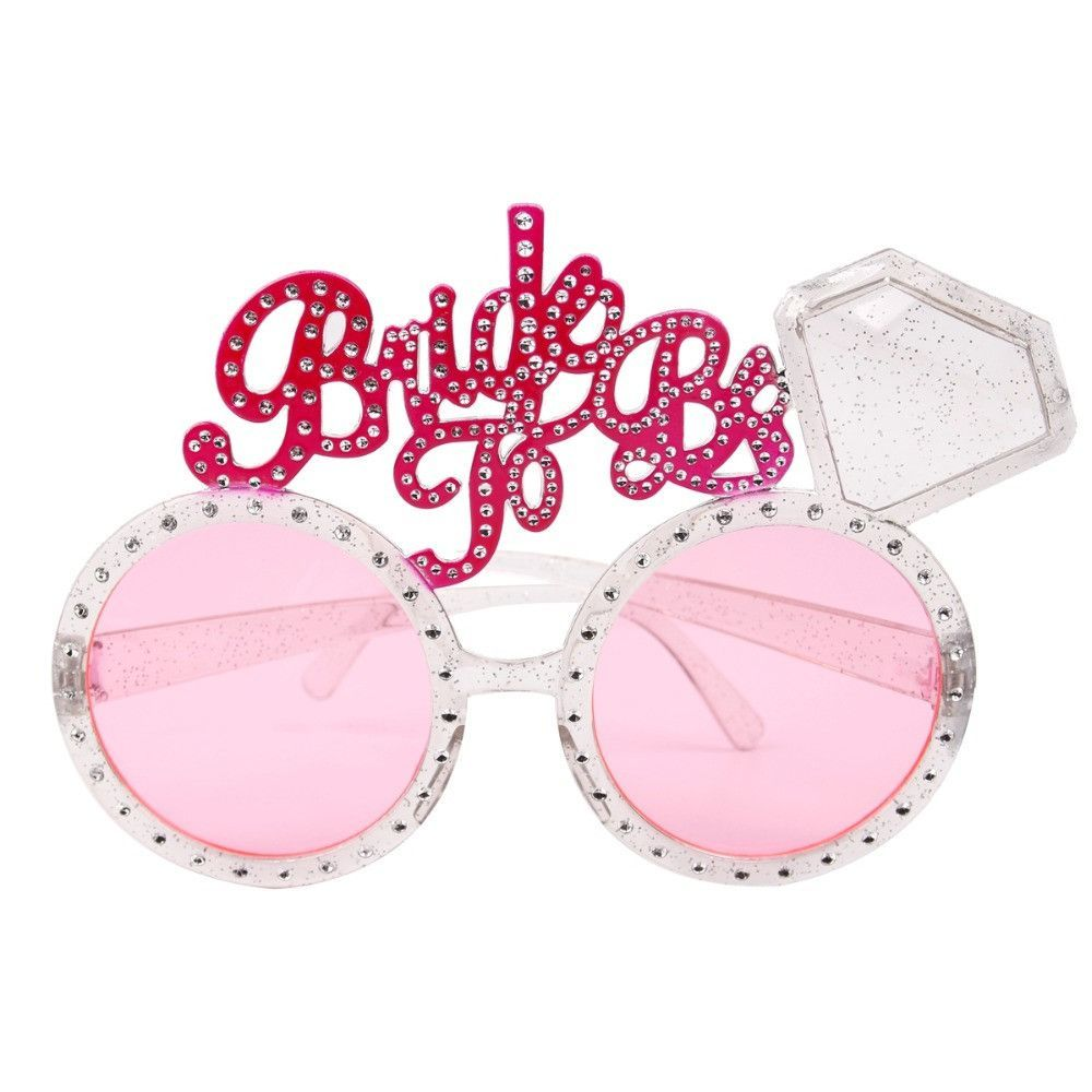 224244958f666 FENGRISE Bachelorette Party Glasses Pink Diamond Bride To Be Sunglasses  Wedding Decoration Hen Party Bridal Shower Favors(China)