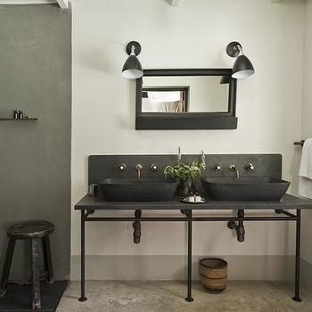 Black Vessel Sink, Modern, Bathroom, The Satyagraha House Part 79