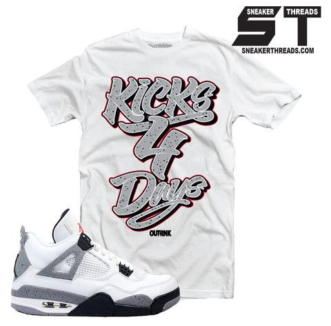 581099605e48 Jordan 4 white cement sneaker match tees. Fresh sneaker tees ...
