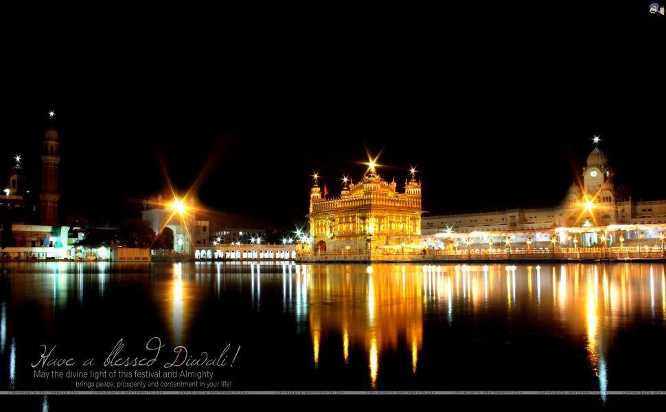 Diwali Golden Temple Hd Wallpaper Wallpapers Golden Temple