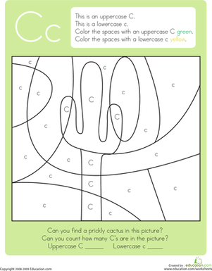 Number Names Worksheets kindergarten letter c worksheets : The alphabet, Kindergarten reading and Reading worksheets on Pinterest
