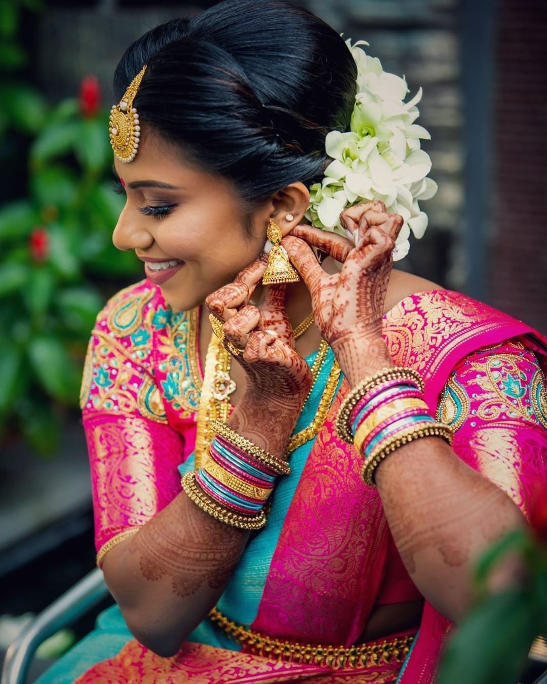 Pin by Kavithra Padmanaban on Hairstyle | Asian bride, Tamil wedding, Bridal makeup