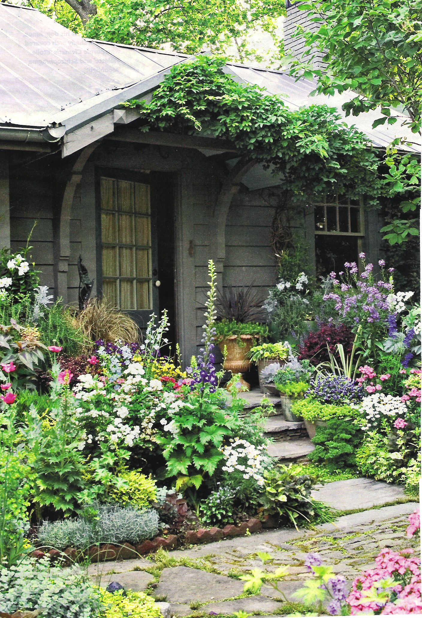 Front Porch Plant Some Flowers Then Plant Some More Need Some Concrete Slabs For Pathways Cottage Garden Cottage Garden Design Beautiful Gardens