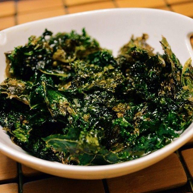 Lime & Sea Salt Kale chips emoji On my blog, link in profile.