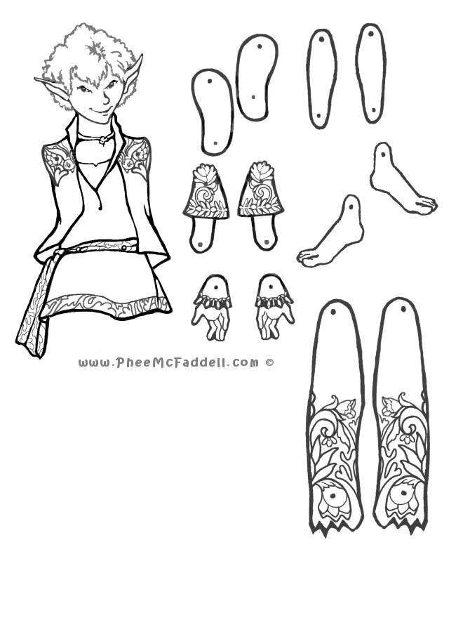Puck Puppet Coloring Page Paper Dolls Paper Puppets Vintage Paper Dolls