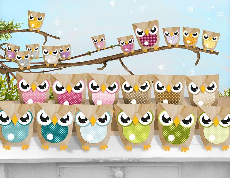 adventskalender eulent ten owl advent calendar via adventskalender pinterest. Black Bedroom Furniture Sets. Home Design Ideas