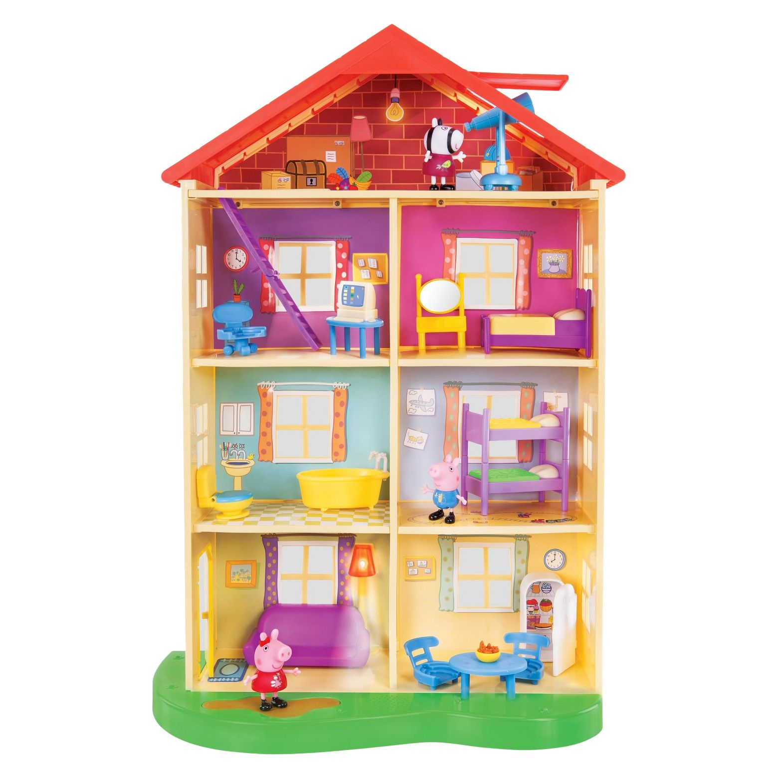 Peppa Pig Family Home Playset With Lights And Sounds Peppa Pig Toys Peppa Pig House Peppa Pig Family [ 1560 x 1560 Pixel ]