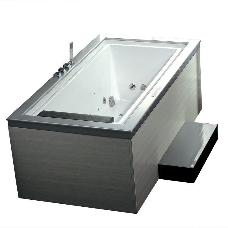 Ariel Platinum ARIEL AM146 75 Modern Edge Look 21 Jets Whirlpool Bathtub    $2995