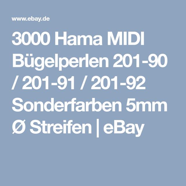 Hama 3000 Midi Bügelperlen 201 ALLE FARBEN Ø 5 mm Steckperlen Perlen Beads