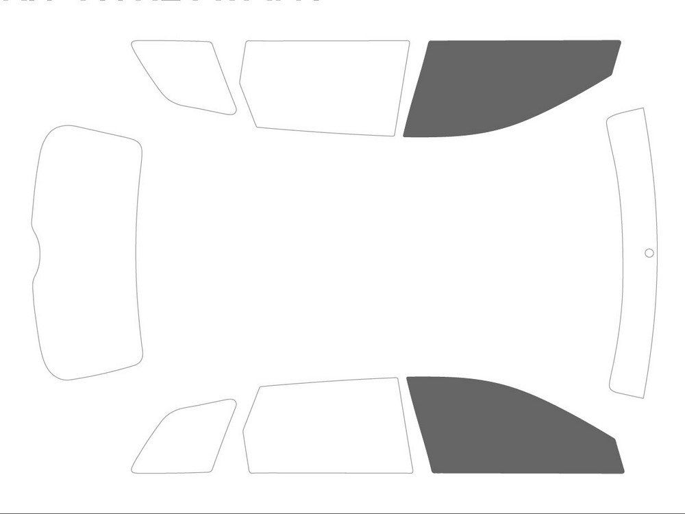 Variance Auto Tinted Films for Car Complete Kit Back Black 20 Front Black 35