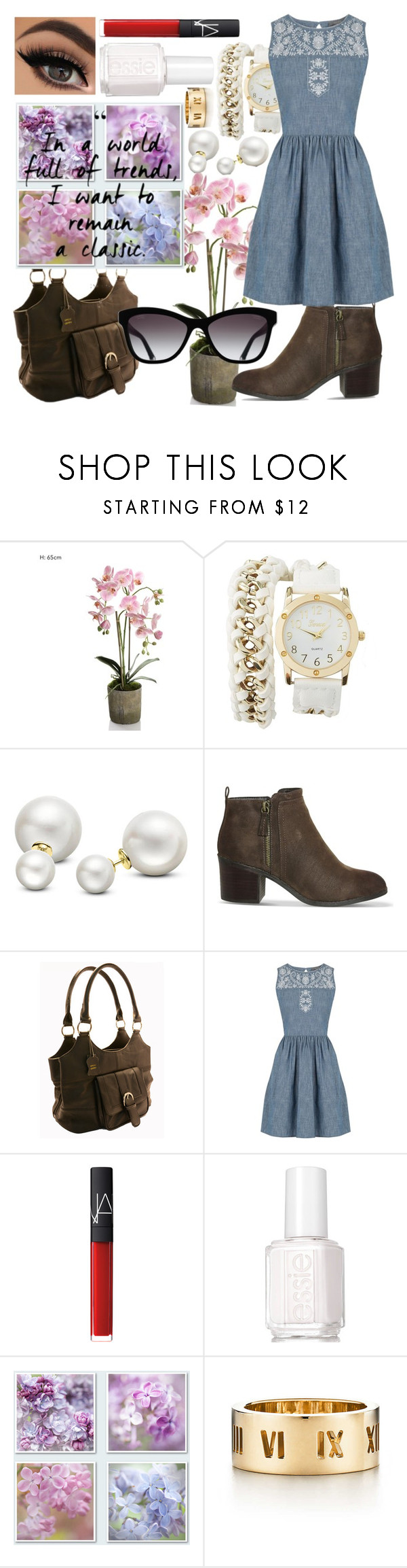 """""""Remain a Classic"""" by wisdomgoddess22 ❤ liked on Polyvore featuring beauty, Charlotte Russe, Allurez, Office, Oasis, NARS Cosmetics, Essie, Chanel and Tiffany & Co."""