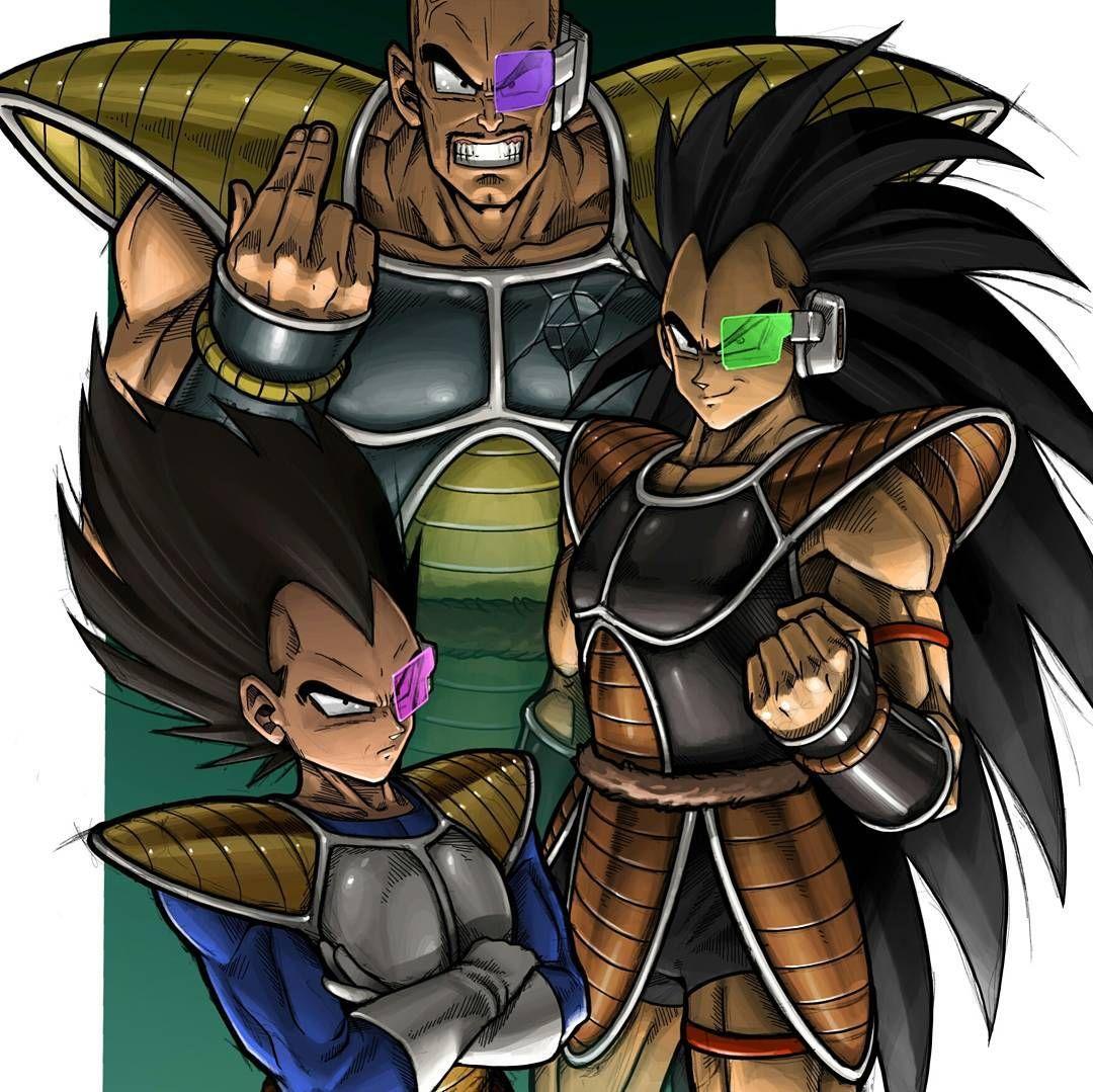 Vegeta Nappa And Raditz Dragon Ball Artwork Dragon Ball Gt Dragon Ball Z