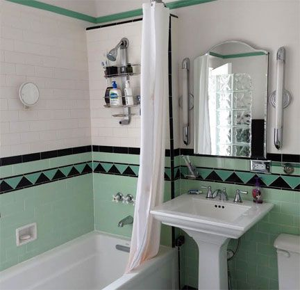 Mint bathroom pinteres for Salmon bathroom ideas