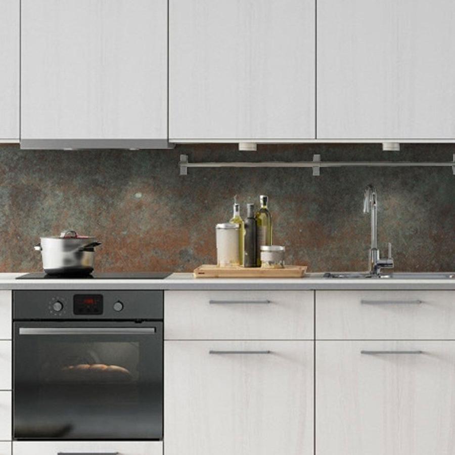 kitchenwalls wallpaper splashback  bronze copper i 2020