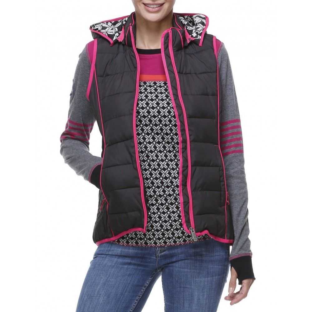 Hooded Vest in Black with SnowFlake Lining by Hatley