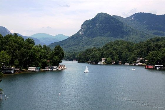 This Is The Town Of Lake Lure And The Blue Ridge Foothills