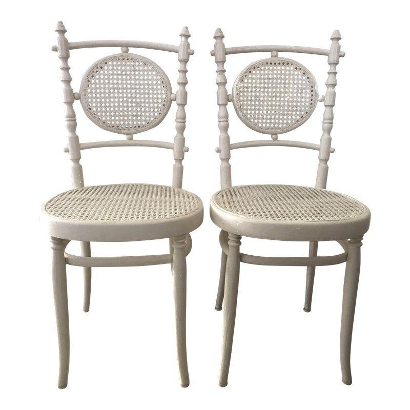 Antique 1913 Fischel Bentwood French Bistro Chairs A Pair French Bistro Chairs Bistro Chairs Patio Furniture Sets
