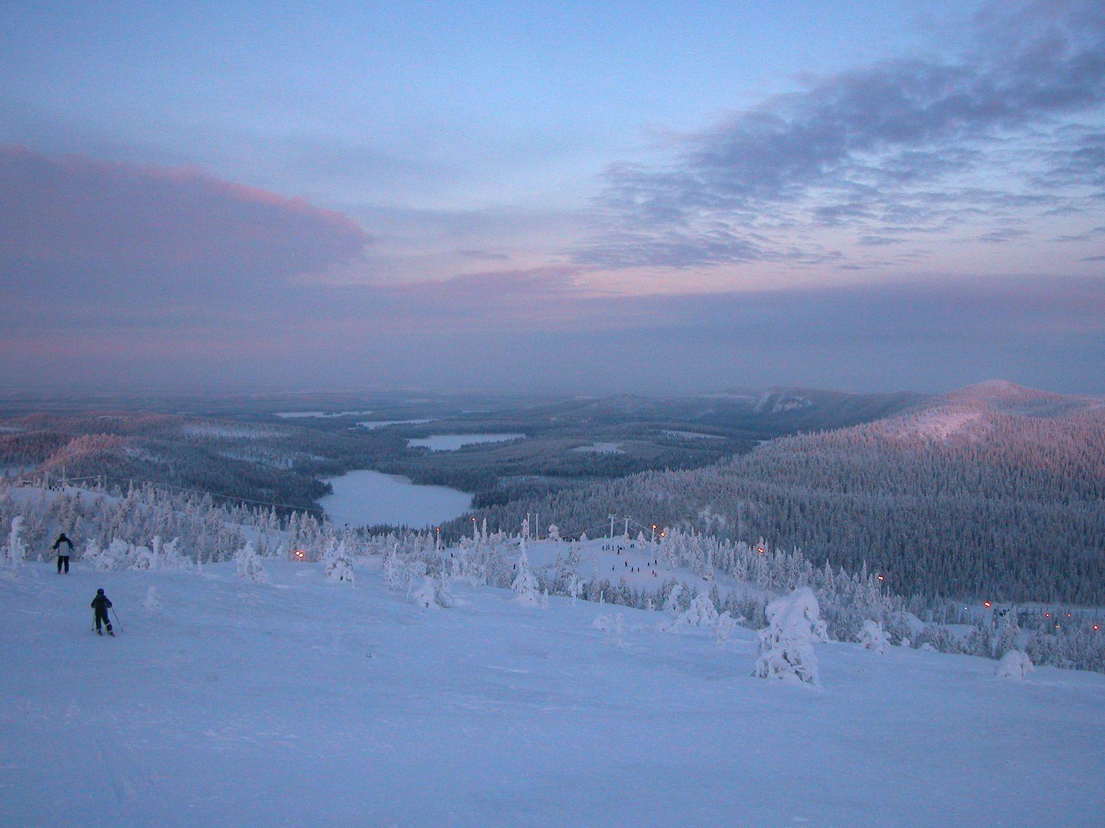 Ruka Ski Resort, Finland. During the polar night   Ruka hiihtokeskus Kaamos, Suomi. I love RUKA.