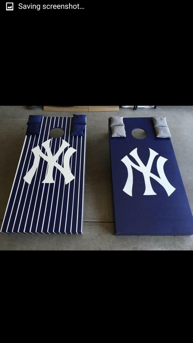 Yankees cornhole boards