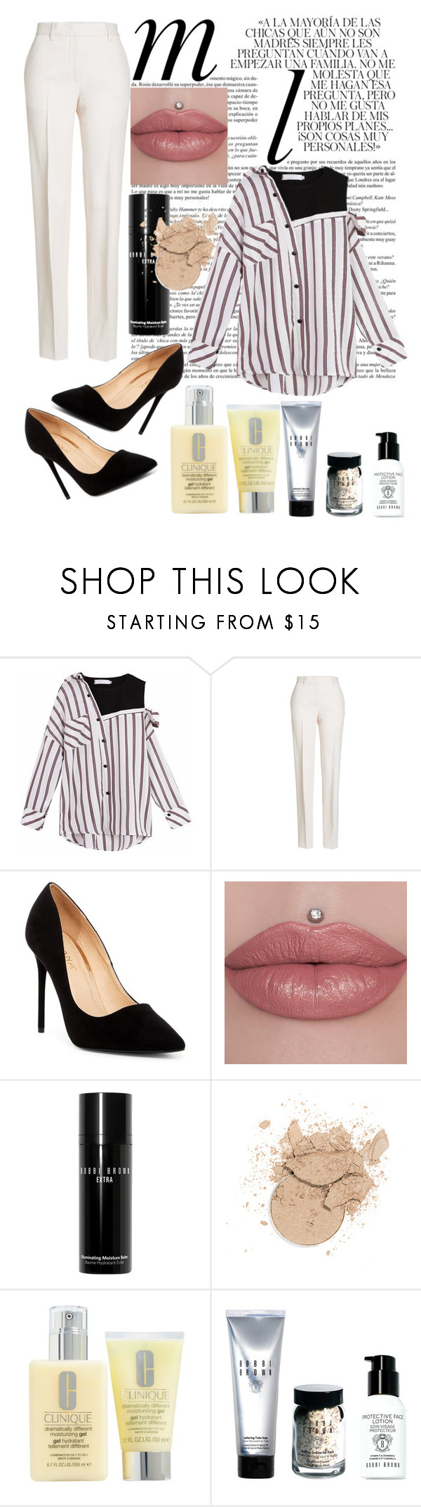 """Let's go gurls 😏"" by pmicla ❤ liked on Polyvore featuring Whiteley, Jil Sander, Liliana, Bobbi Brown Cosmetics and Clinique"