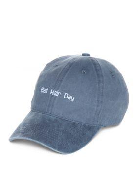 Steve Madden Women s Bad Hair Day Baseball Hat - Denim - One Size b02a198e6f