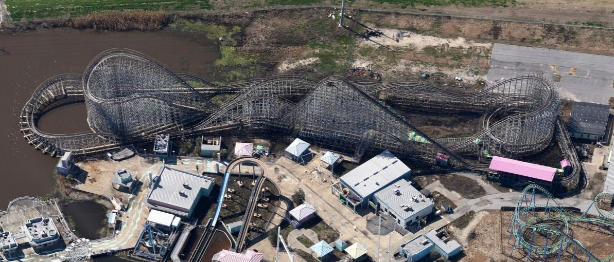 Six Flags New Orleans Googlesøk New Orleans Jazzy South - 10 years hurricane katrina six flags theme park new orleans still lies abandoned 10 years