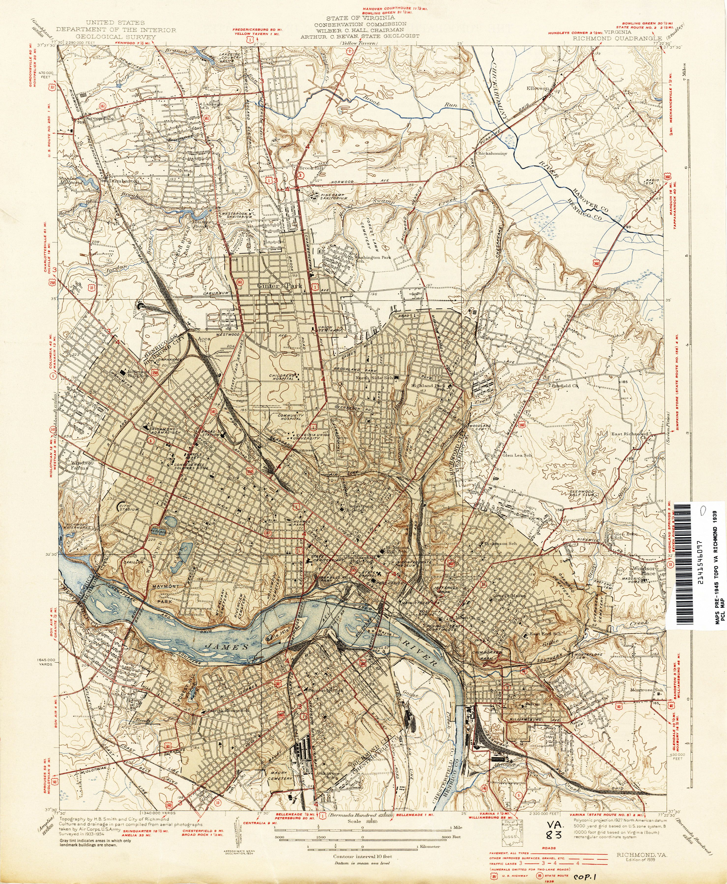 Pin By Seir W On House Research Old Richmond Richmond Map