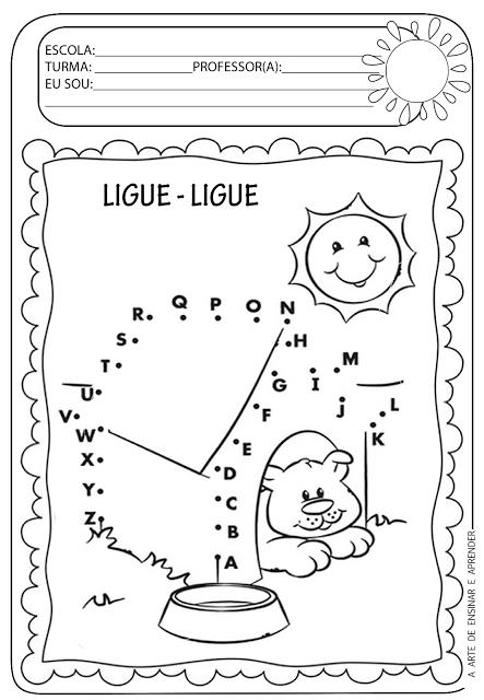 atividade pronta ligue ligue alfabeto education writing and