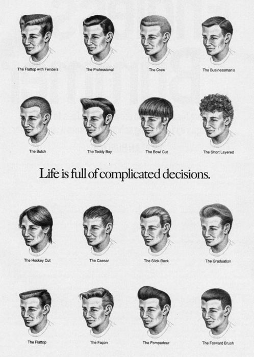Complicated Decisions Men Hairstyle Names Haircut Names For Men