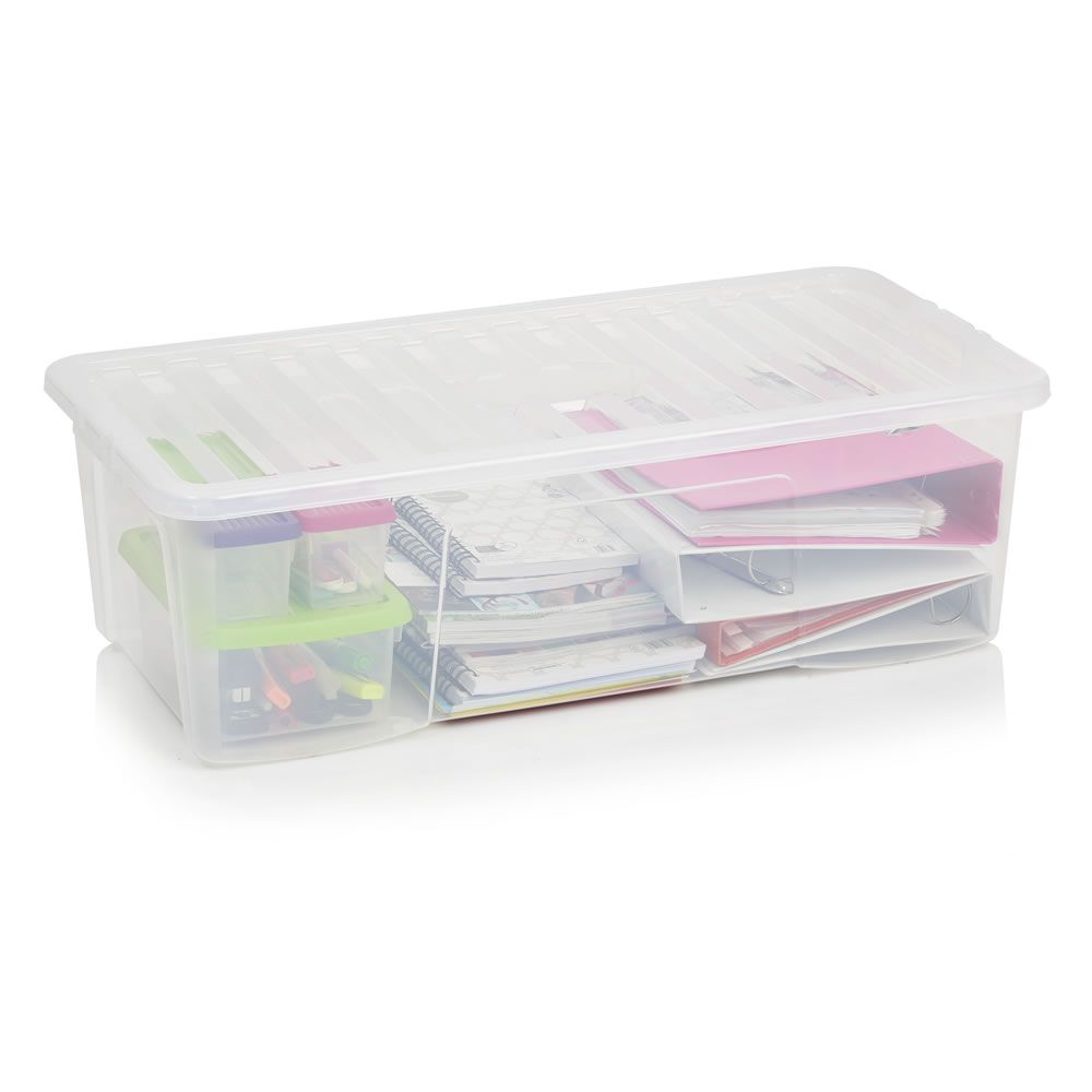 Wilko Crystal Storage Box with Lid Clear 62L  sc 1 st  Pinterest & Wilko Crystal Storage Box with Lid Clear 62L | Storage | Pinterest ...