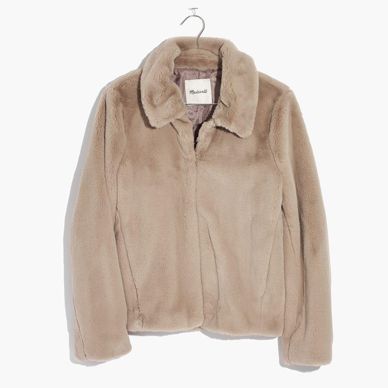 Madewell Shrunken FauxMink Jacket Mink jacket, Faux fur