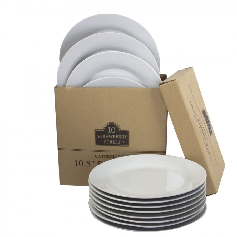 10 Strawberry Street Catering Pack Catcom Rd 1 Bright White 10 1 2 Round Porcelain Dinner Plate 12 Case Dinner Catering 10 Strawberry Street Dinner Plate Sets
