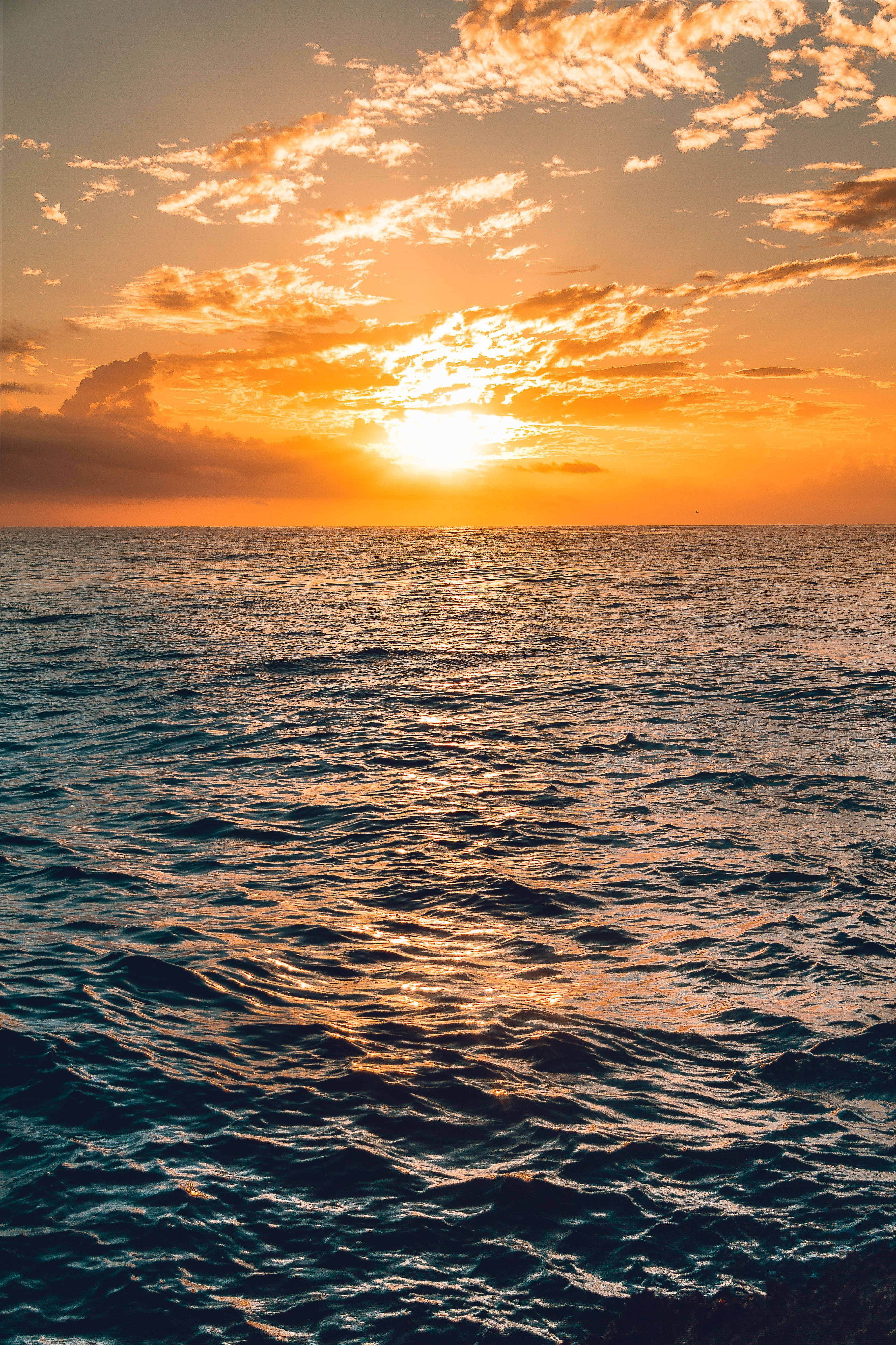 Sunset Nature Outdoors Sea Under Clear Sea Under Clear Blue Sky Sunrise Wallpaper Sunrise Landscape Landscape Pictures