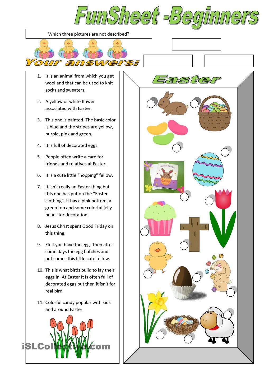 Esl Easter Reading Comprehension Worksheets