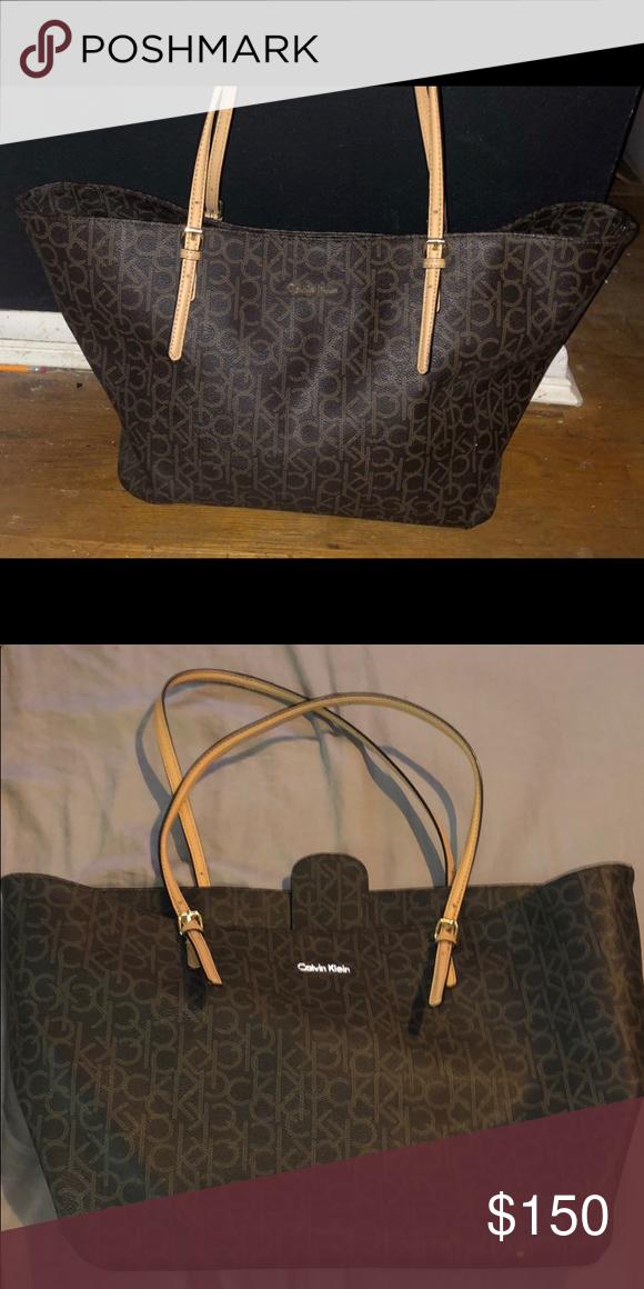 8d0c6a4c599 Calvin Klein Women's Monogram Bag Large Calvin Klein bag big enough to hold  beach stuff /