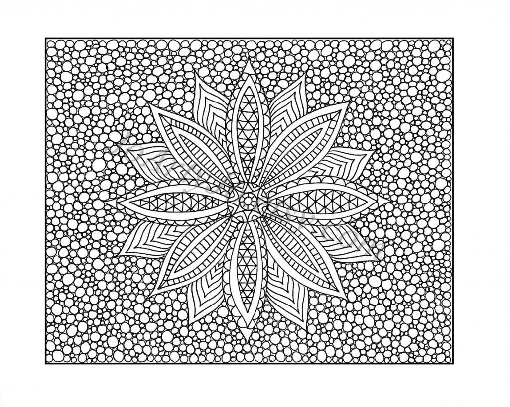 Abstract flower coloring pages - Free Printable Color Pages For Adults Popular February