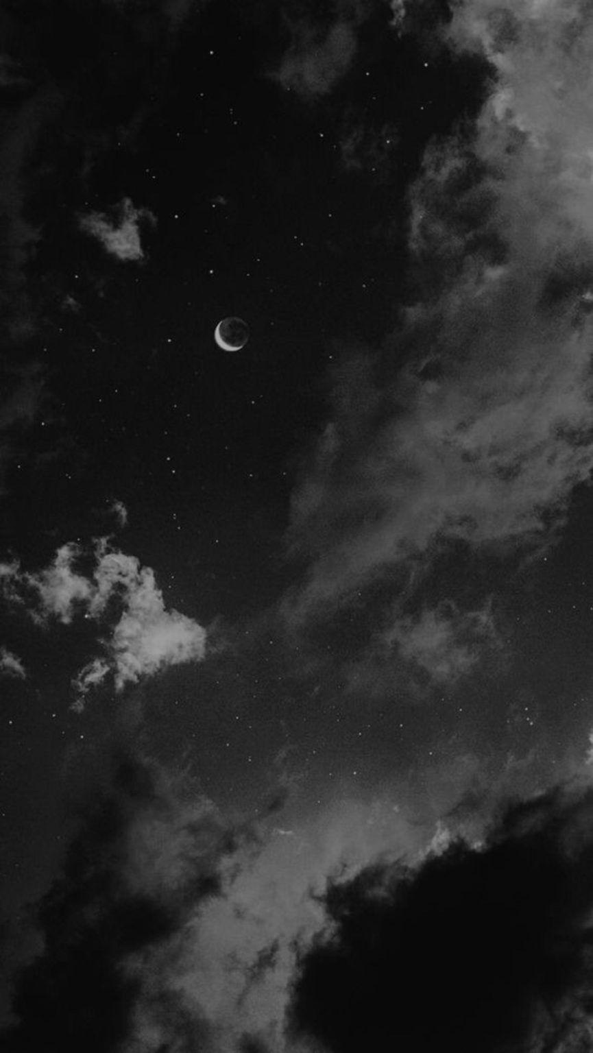 Iphone Wallpaper Sky Black Atmosphere Cloud Black And White Moon Black Aesthetic Wallpaper Dark Wallpaper Iphone Black Phone Wallpaper