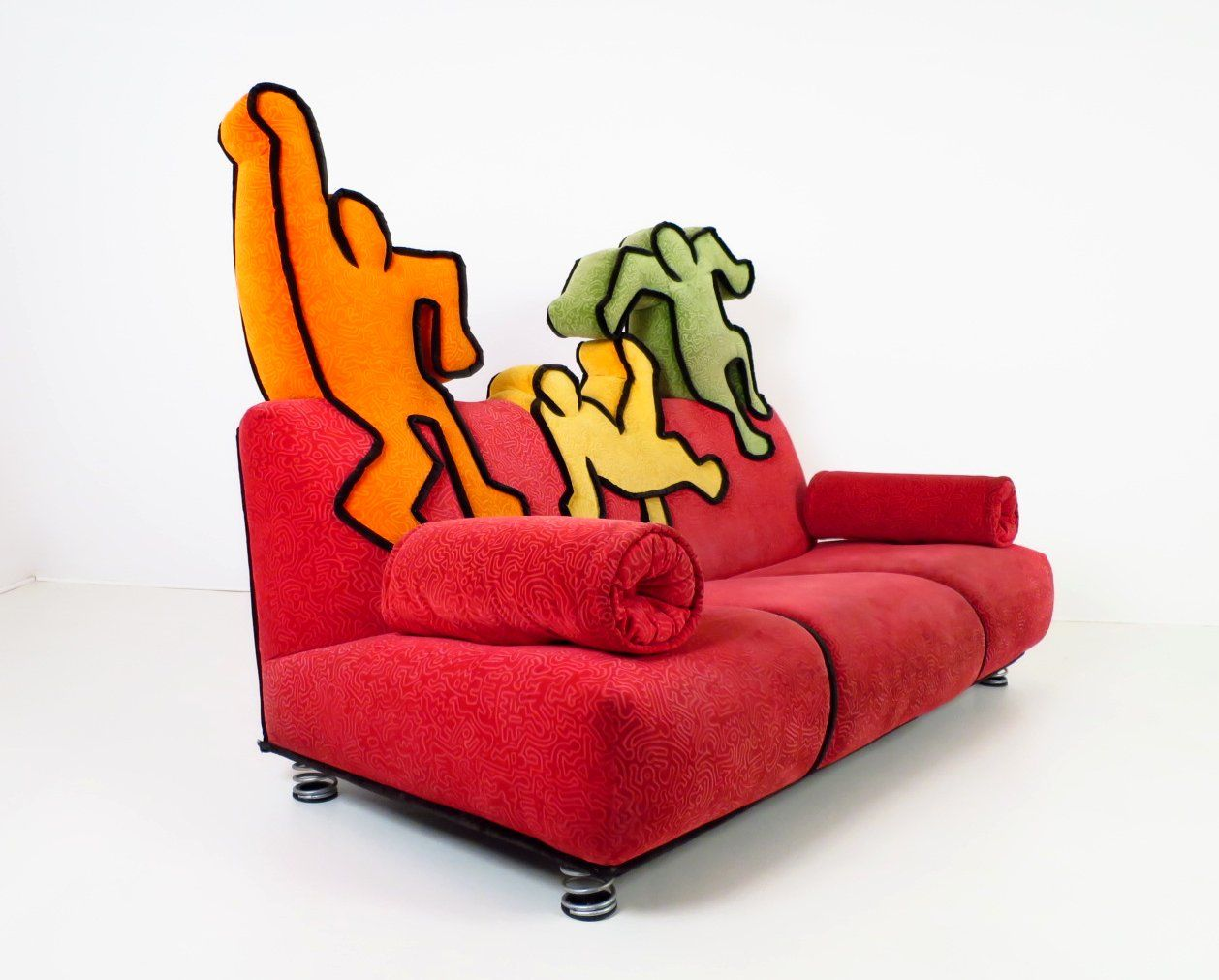 Bretz Sofa Bretz Sofa After Patterns By Keith Haring 1958 1990 Unusual