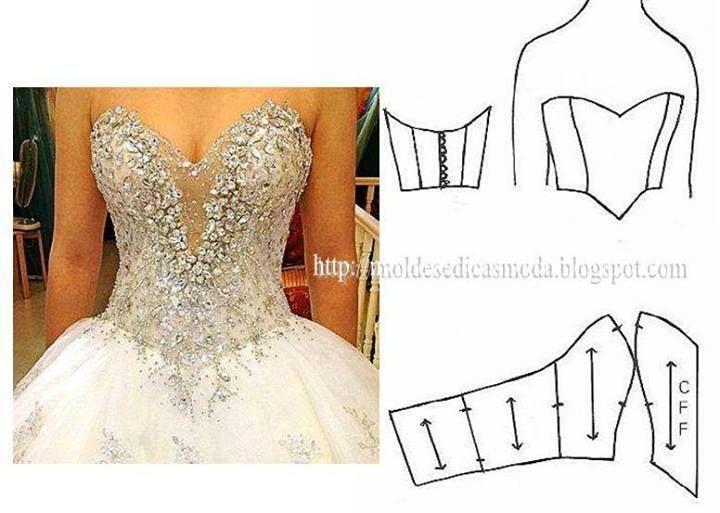 Resultado de imagen para moldes corset para vestidos 15 | Payasos ...