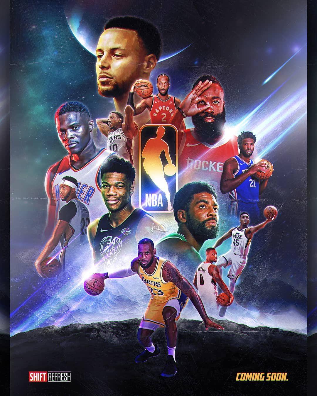 Not Long Now Having Fun With This Marvel Avengers Style Nba Poster Nbaart Nba Basketball Art Nba Wallpapers Nba Art