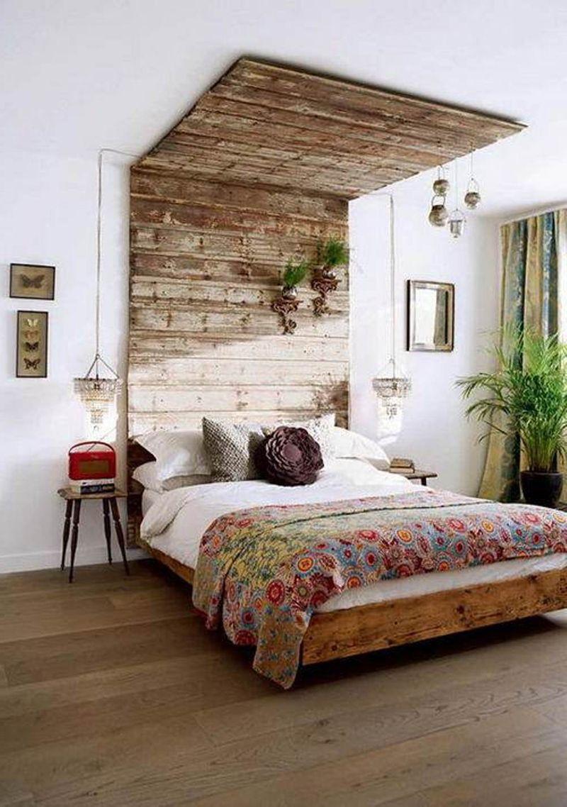 27 Ideas For Floor To Ceiling Headboards Remodel Bedroom Bedroom Interior Bohemian Bedroom Design