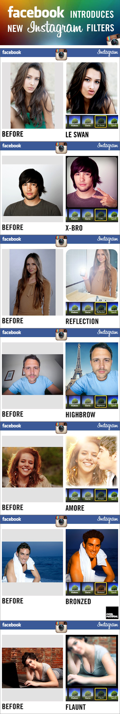 Hilarious --> Facebook introduces new Instagram filters