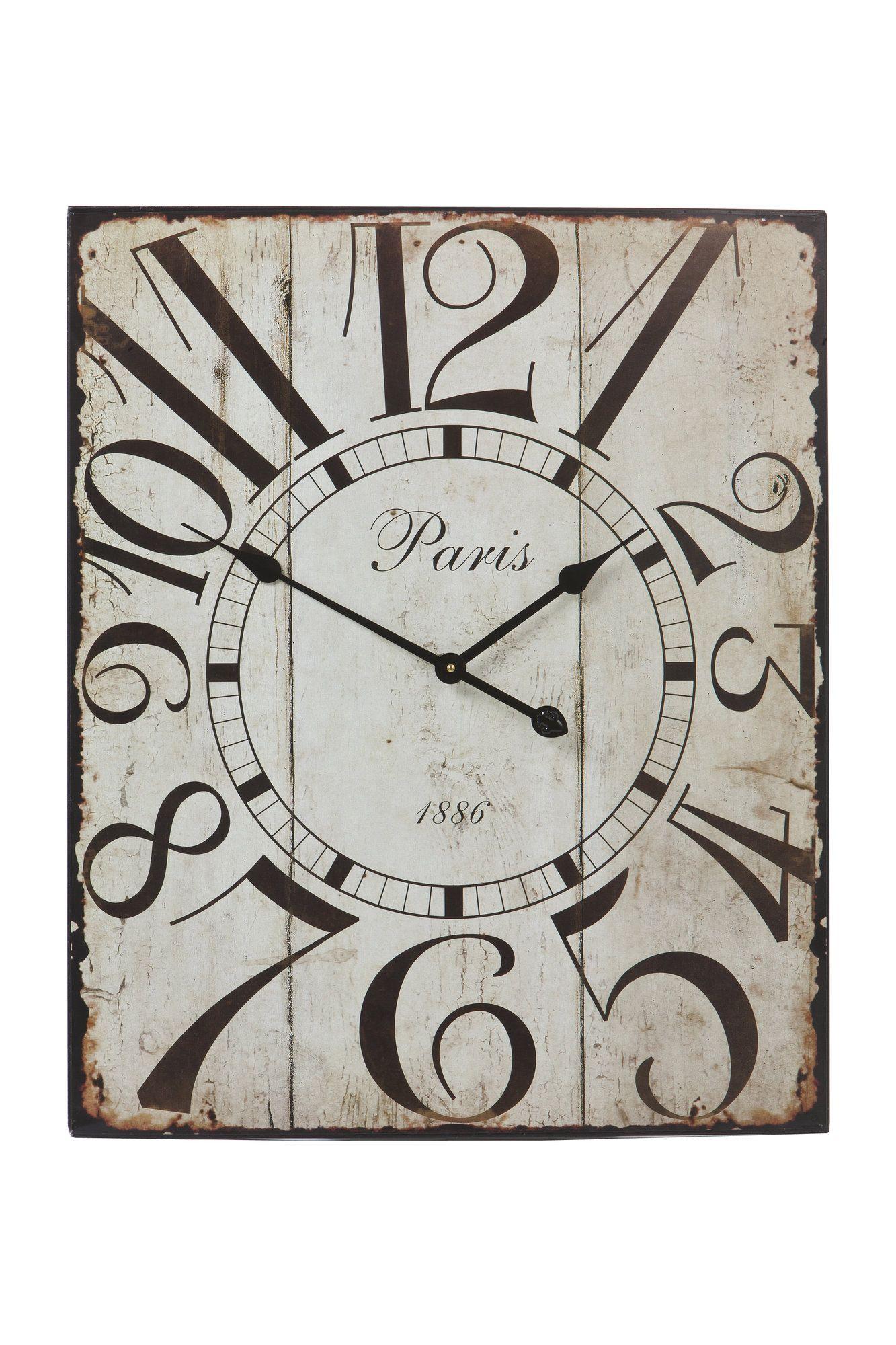 Paris 1886 Metal Wall Clock Products Pinterest