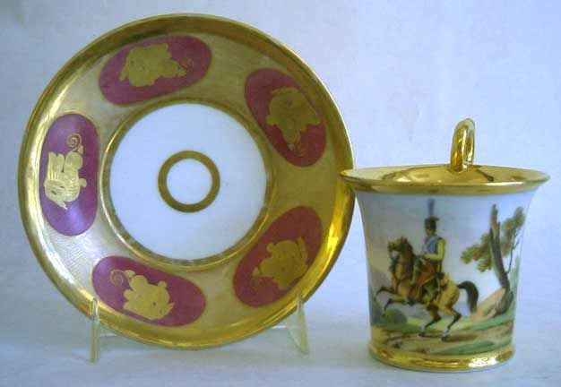 PARIS 1815-1825  Beidermeir style with high ring handle.