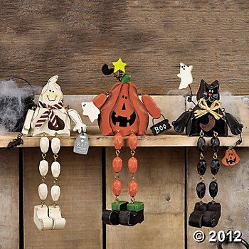 dangle leg characters - cute for the mantle Halloween Pinterest - cute halloween gift ideas