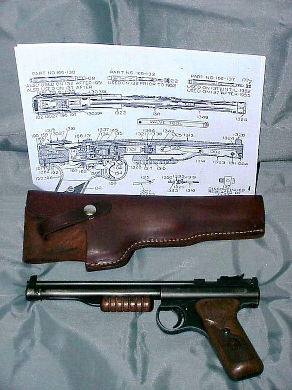 Benjamin Franklin Vintage Model 137 Single Shot Pump Pistol