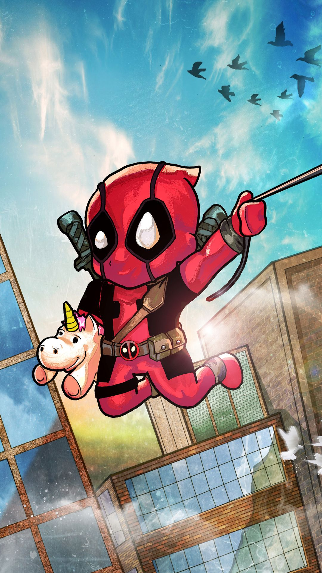 Chibi Deadpool Deadpool Artwork Deadpool Chibi Deadpool Wallpaper