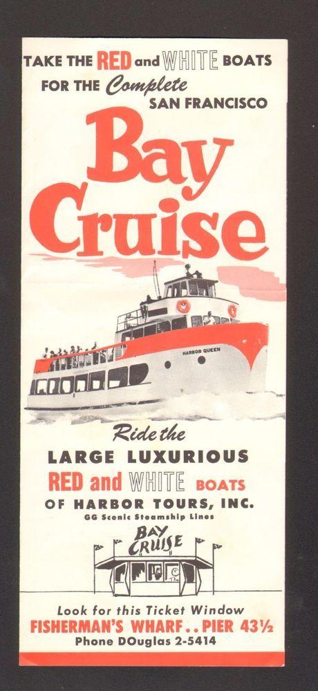 Undated Vacation Travel Brochure Bay Cruise San Francisco Ca